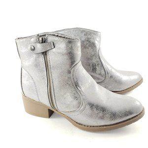 UNIONBAY Metallic Silver Booties Size 7M